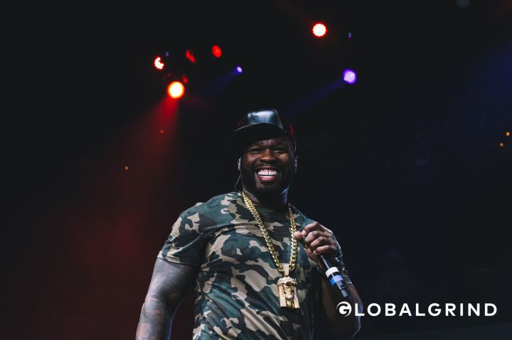 Curtis cracks a smile at Hot 107.9's Birthday Bash concert in Atlanta.
