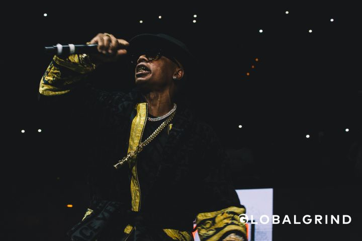Plies ran off on the plug twice during Hot 107.9's Birthday Bash concert in Atlanta.