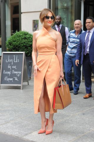 Jennifer Lopez out in soho.