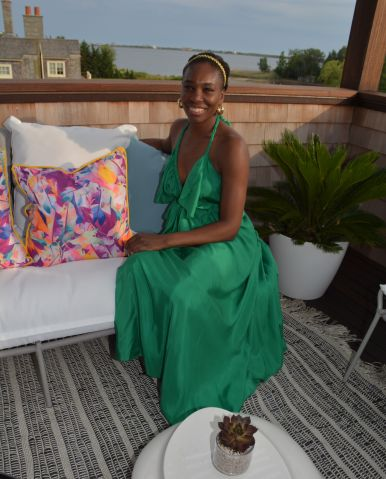 Venus Williams at Holiday House in the Hamptons