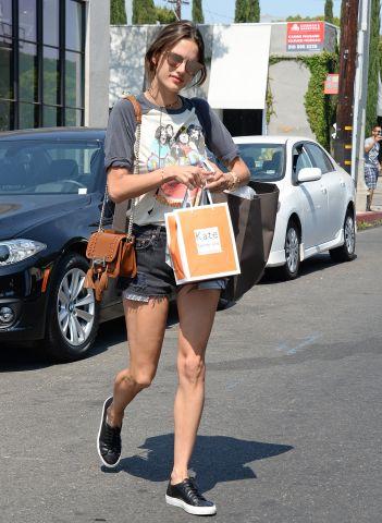Alessandra Ambrosio shops in Los Angeles