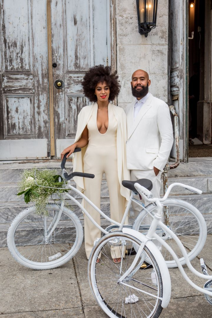 Solange Knowles puts a spin on all white for her wedding.