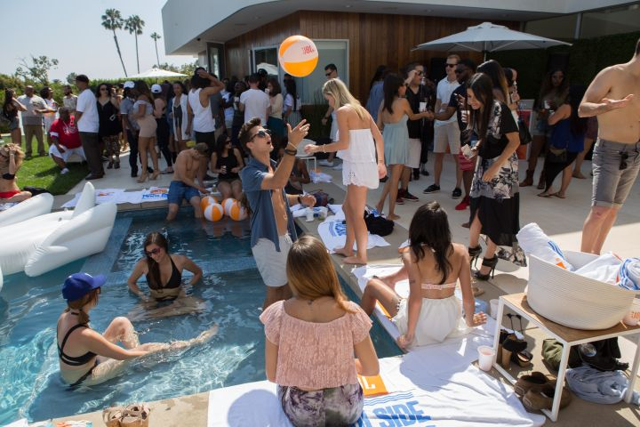 """JBL's Poolside Party For """"Charge 3"""" Launch In Beverly Hills."""