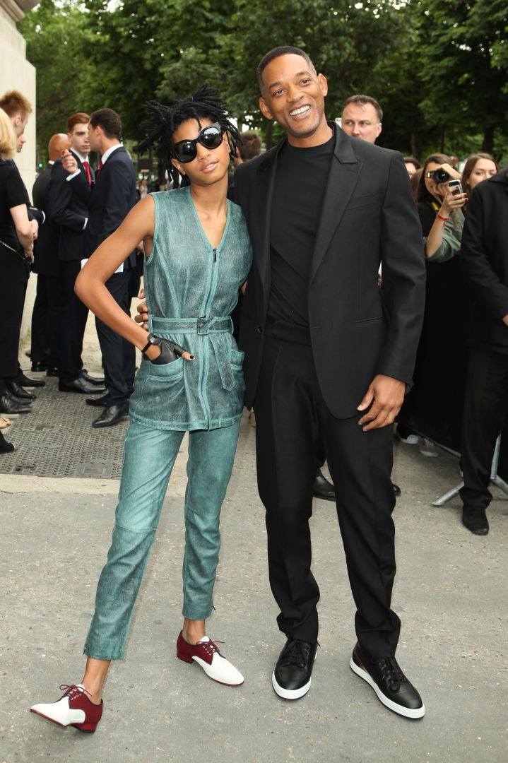 Will and Willow Smith attend the Chanel show.