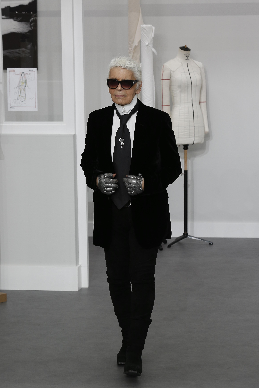 Karl Lagerfeld - Celebrities at Paris Fashion Week