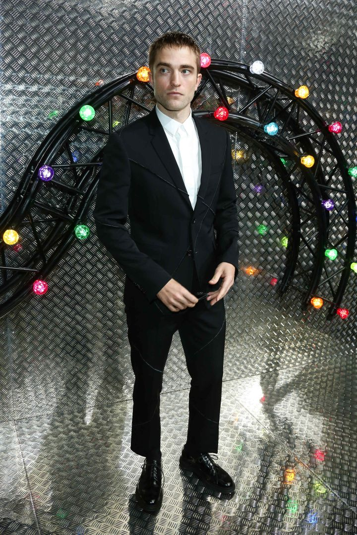 Robert Pattinson at the Dior Homme show.