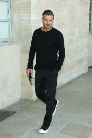 David Beckham - Celebrities at Paris Fashion Week