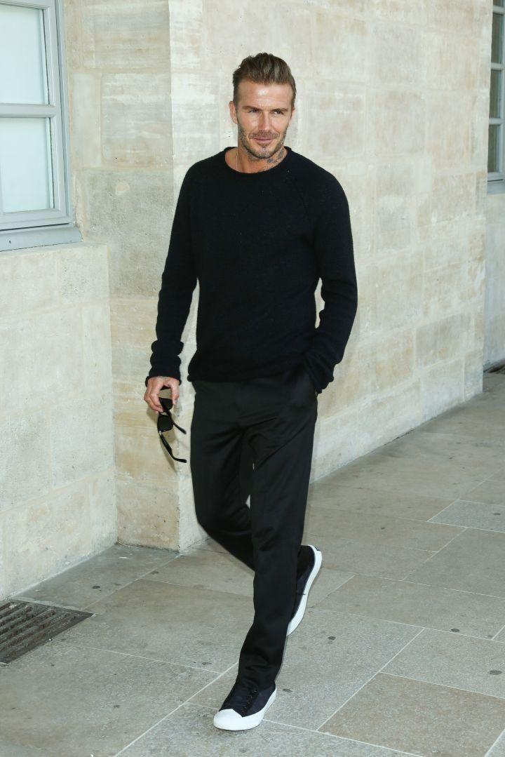 David Beckham at the Louis Vuitton Menswear show.