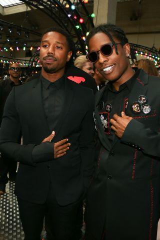 ASAP Rocky, Michael B. Jordan - Celebrities at Paris Fashion Week