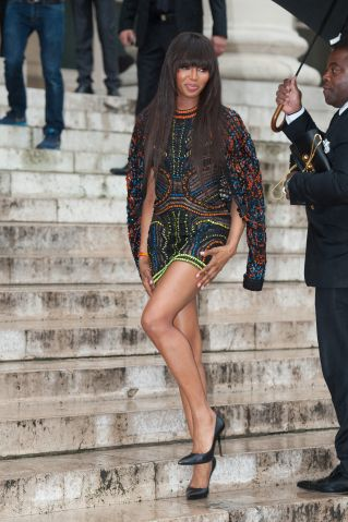 Naomi Campbell, Celebrities at Paris Fashion Week