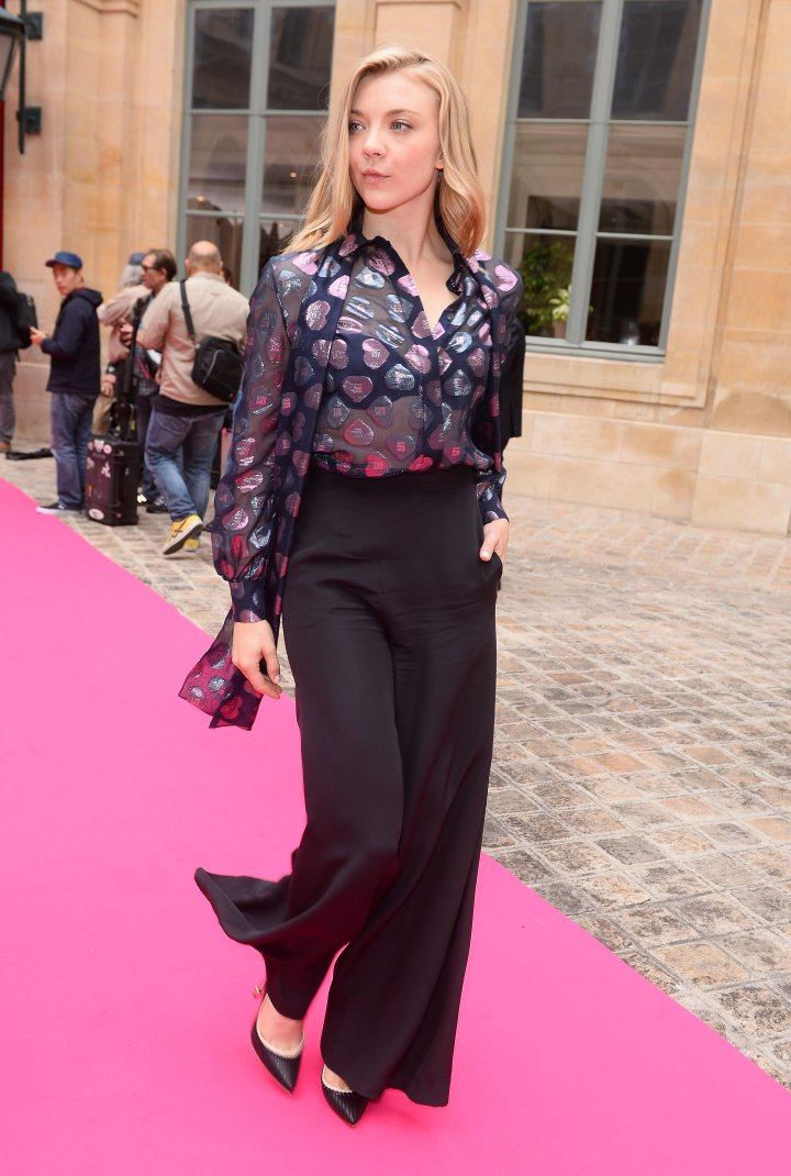 Natalie Dormer at the Schiaparelli show.