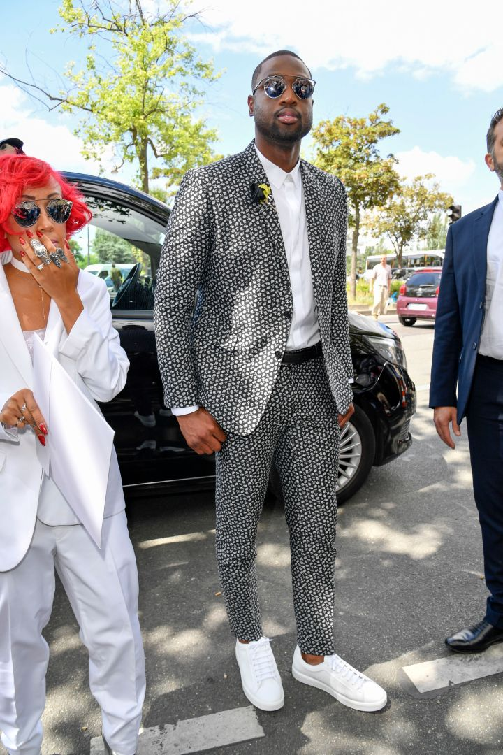 Dwyane Wade seen at the Dior Homme show.
