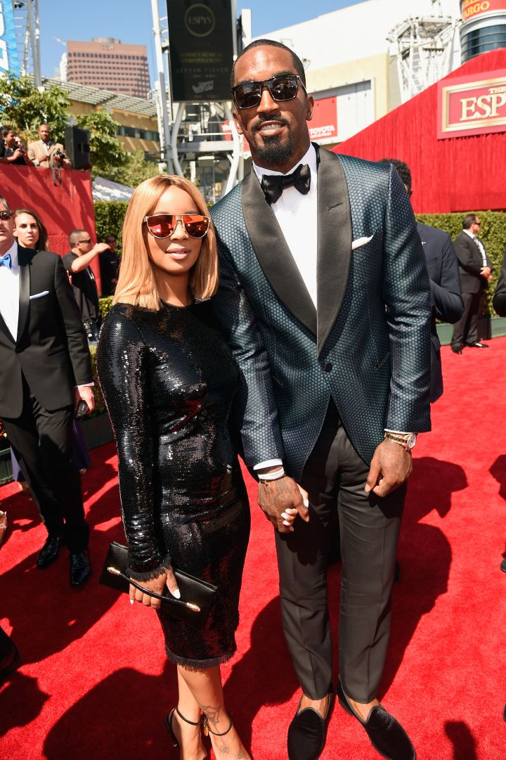 NBA Champion JR Smith graced the carpet with his fiancée.
