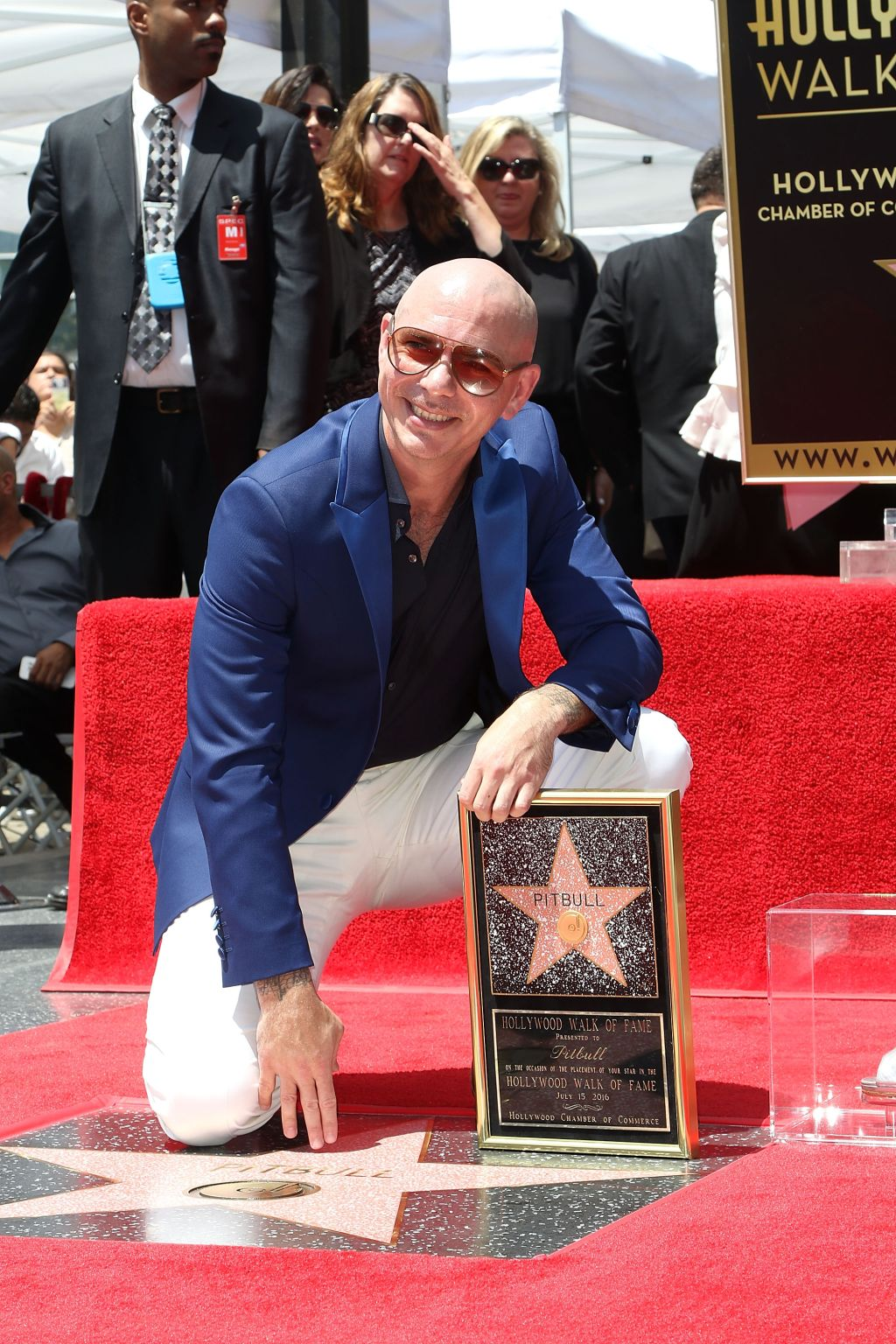 Pitbull Honored With Star On The Hollywood Walk Of Fame