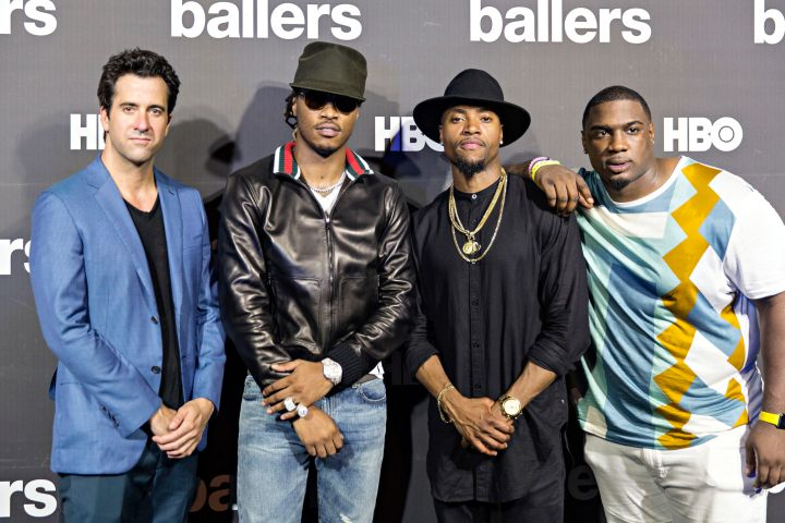 Troy Garity, Future, London Brown, and Donovan Carter On The HBO 'Ballers' Red Carpet In Miami