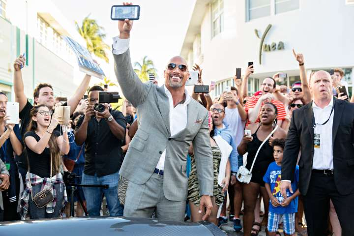 Dwayne 'The Rock' Johnson On The Red Carpet