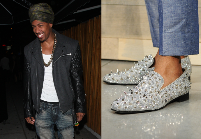 Nick Cannon's Turban and Shoes