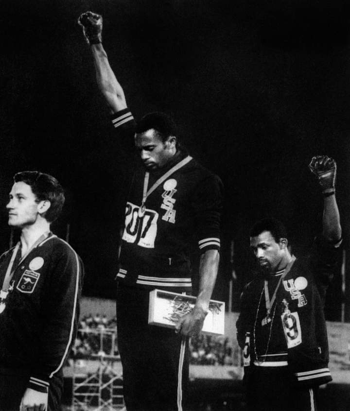 THEN: Tommie Smith and John Carlos
