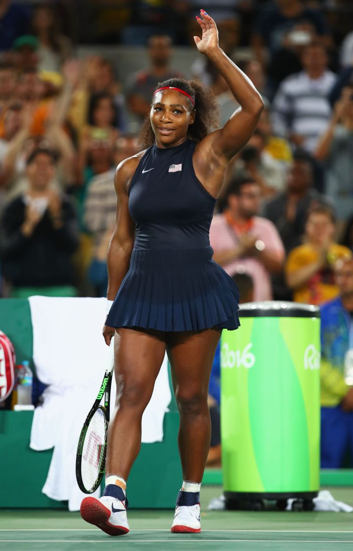 Serena Williams represents Team USA at the 2016 Rio Olympics.