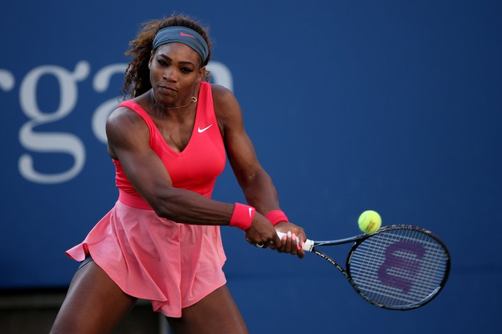 Serena goes pink on pink at the 2013 US Open