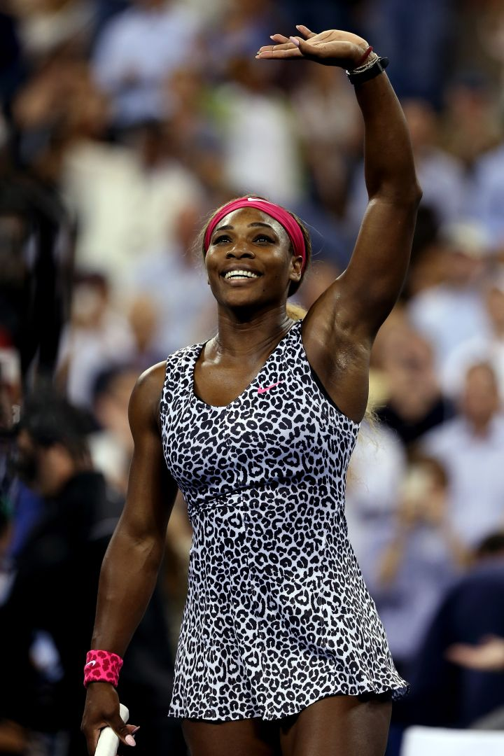 More cheetah for Serena at the 2014 US Open.