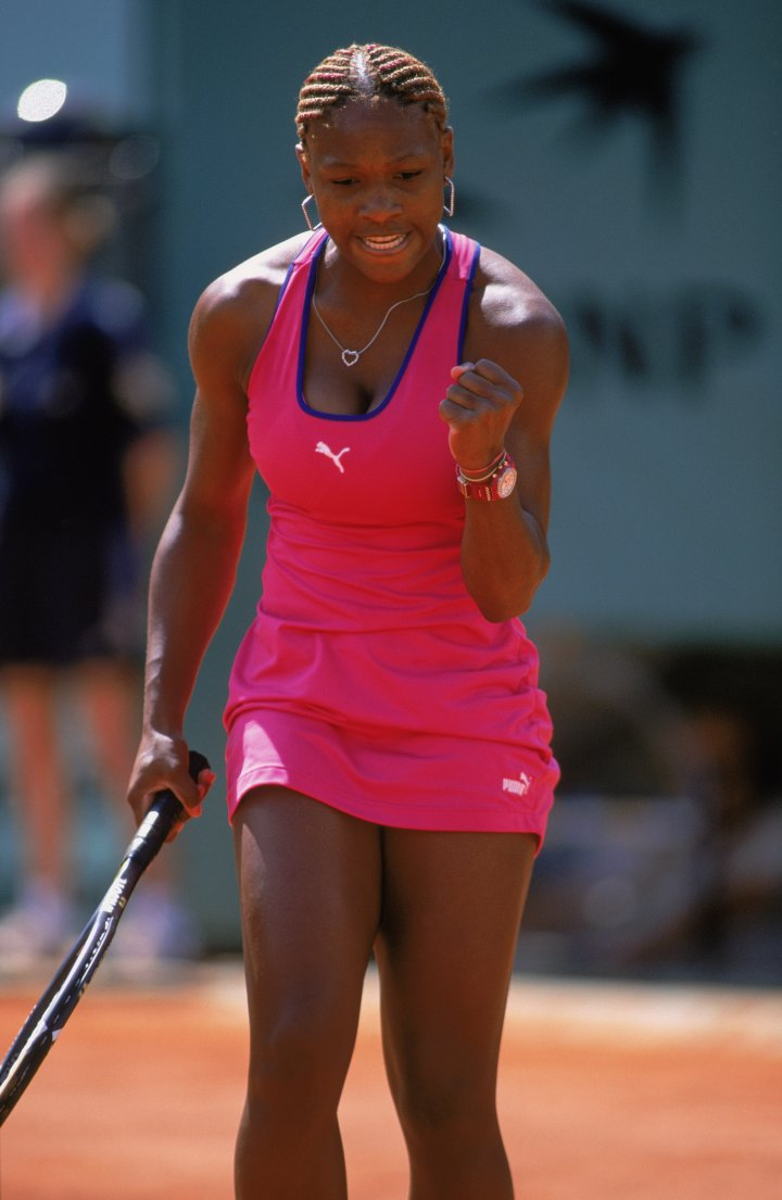 Serena is pretty in pink 2001 French Open