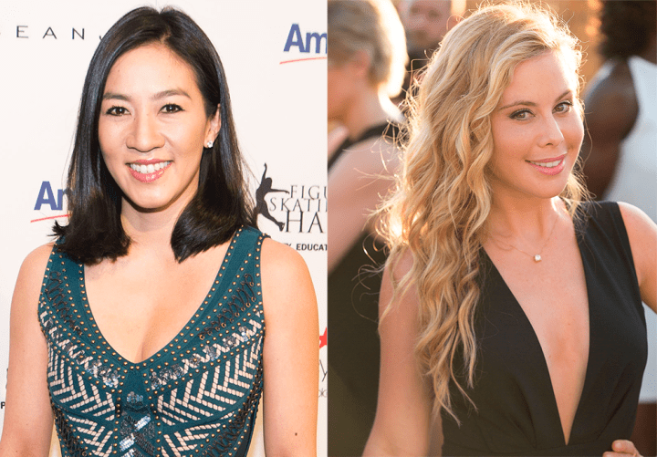 NOW: Michelle Kwan and Tara Lipinski