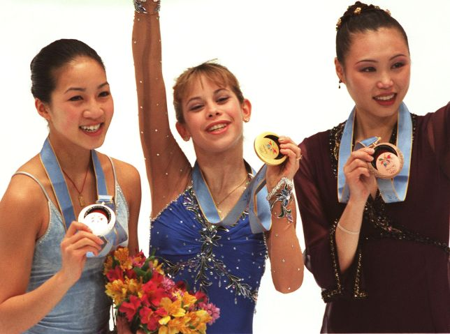 The winners of the Olympic women's figur