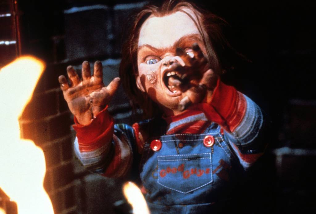 Chucky Near Flames In 'Child's Play'
