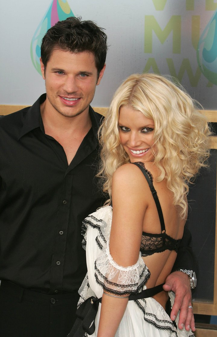 Jessica Simpson & Nick Lachey were the cutest couple in Hollywood before reality TV fame. Here they are at the 2005 VMAs during happier times.