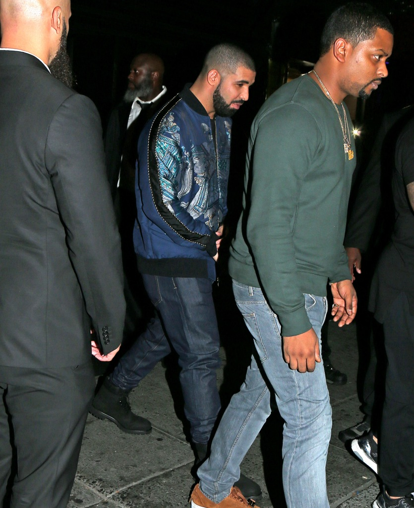 Rihanna and Drake leave the club Up and Down together after hanging out at the after party for the VMA's in New York City.