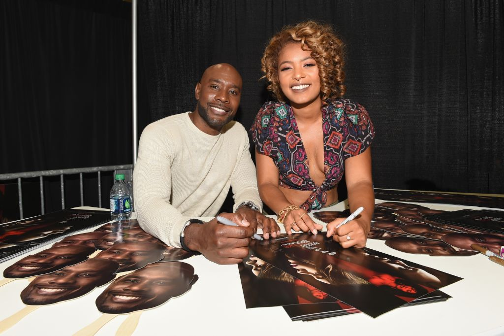 WHEN THE BOUGH BREAKS Cast Members Morris Chestnut And Jaz Sinclair At The 2016 Essence Festival