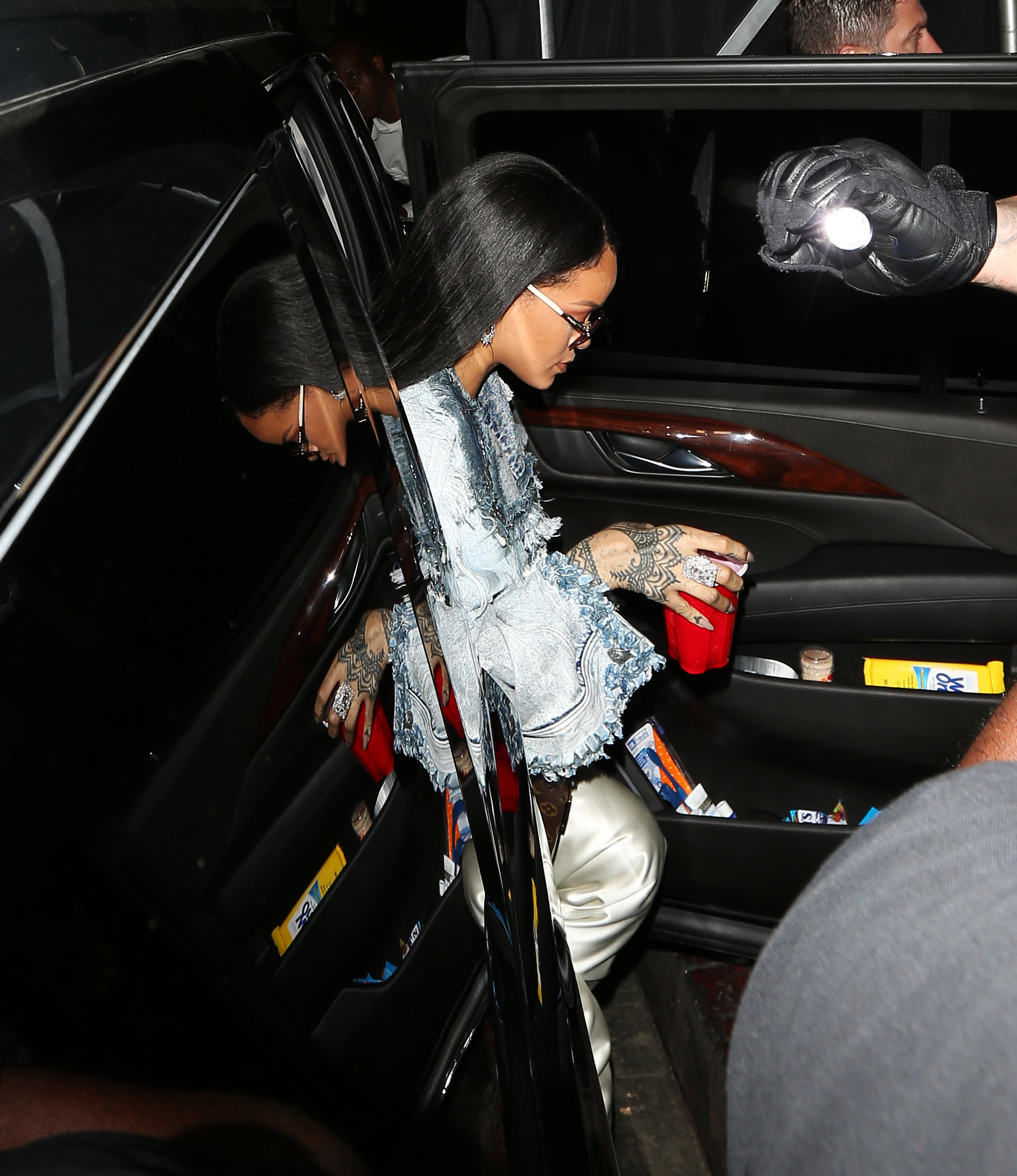 Drake and Rihanna arrive at The Nice Guy restaurant