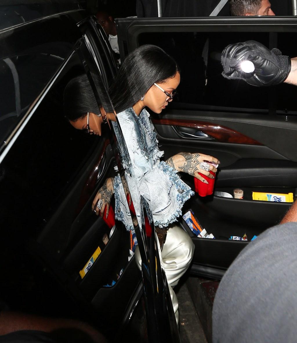 Drake and Rihanna arrive at The Nice Guy restaurant