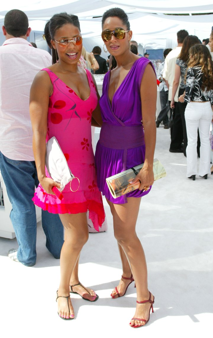 Here's Sanaa back in 2003 with another gorgeous, ageless star: Tracee Ellis Ross.