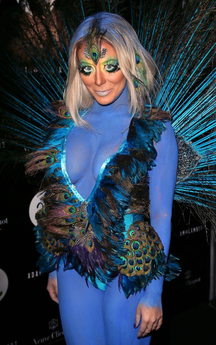 Aubrey O'Day's peacock makeup was a huge no.
