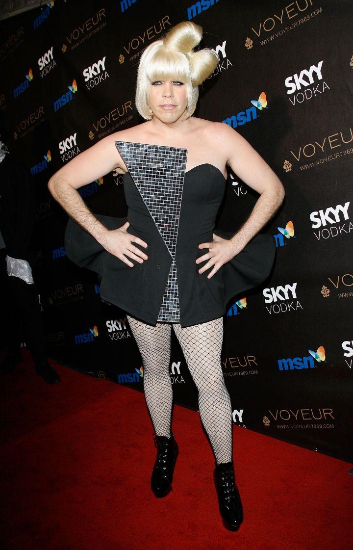 Perez Hilton as Lady Gaga…no, no.