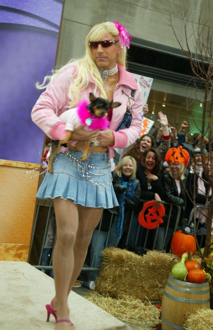 We wonder how Paris Hilton felt about Matt Lauer walking a day in her stilettos.