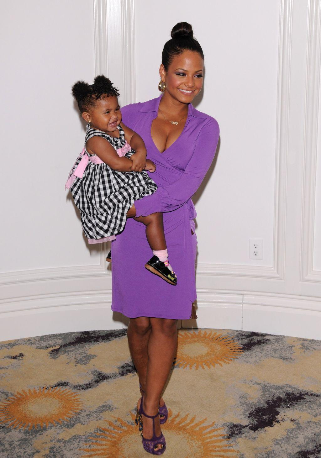 Christina Milian & daughter Violet Nash
