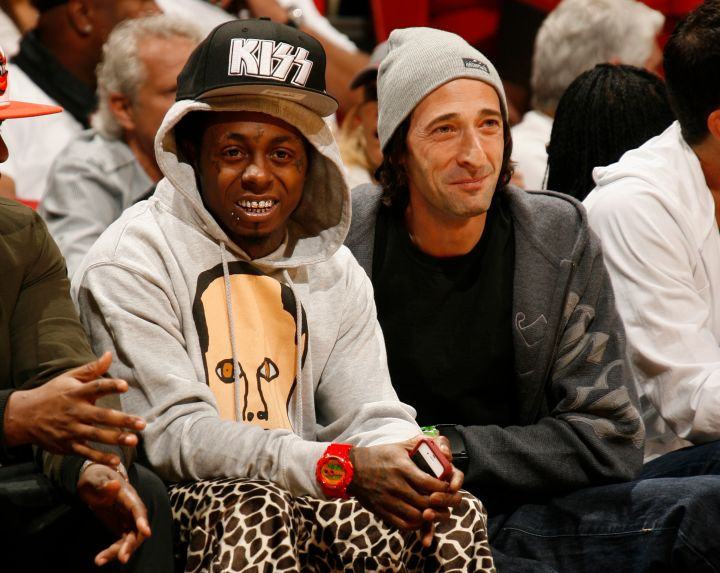 Skateboard Wayne and Adrien Brody are pals.