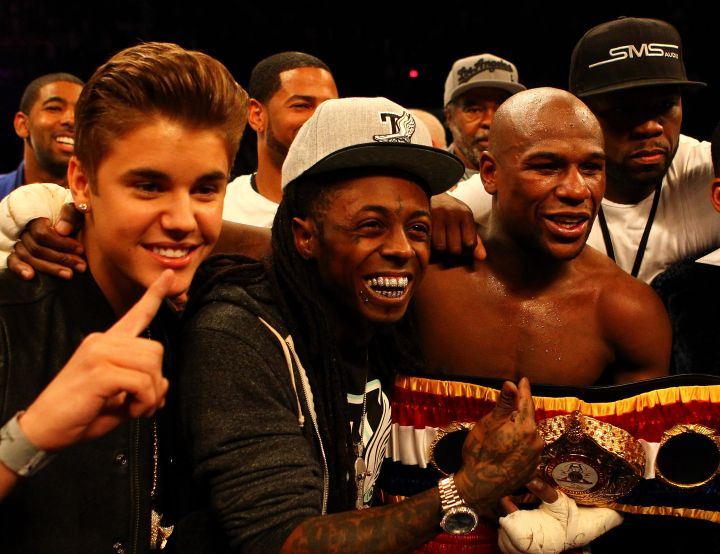 Floyd Mayweather is another famous friend from Wayne's Miami life.
