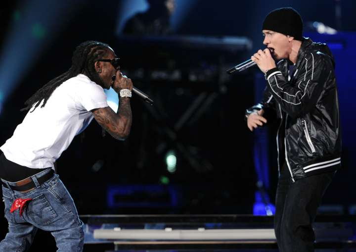 Eminem and Lil Wayne have both reached pinnacles in their career that no one else has. What a way to bond.