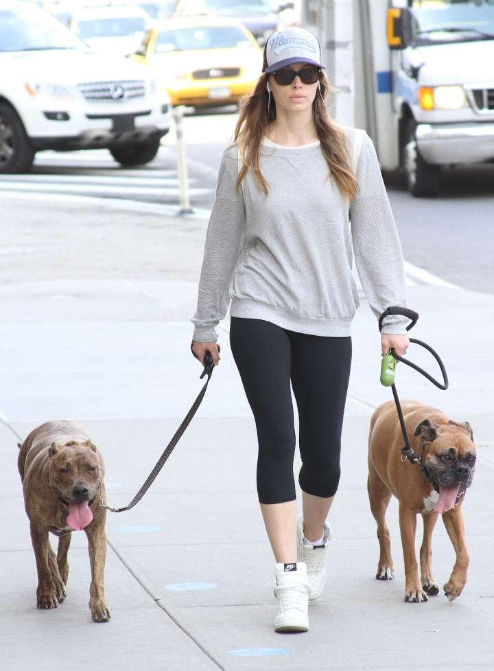 Jessica Biel is all about her four-legged friends.