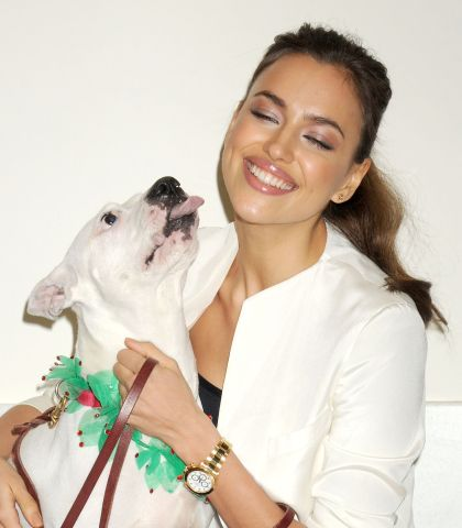irina shayk - celebs and pitbulls