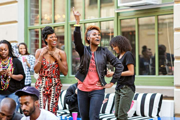 Issa Rae enjoying her 'Insecure' Block Party In Brooklyn.