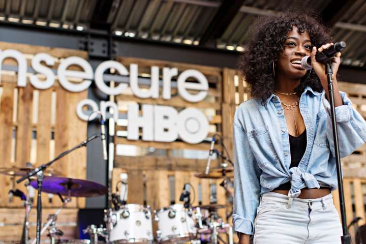 Kari Faux Performing At HBO's 'Insecure' Block Party.