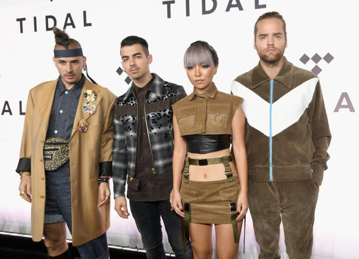 DNCE hit the red carpet.