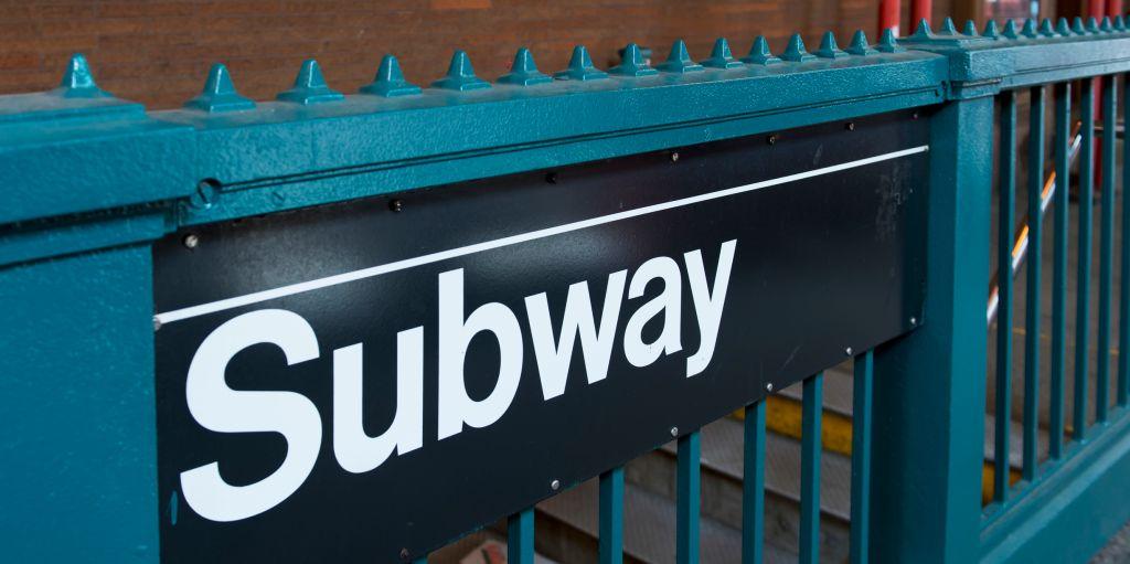 Subway sign; New York City, New York, United States of America
