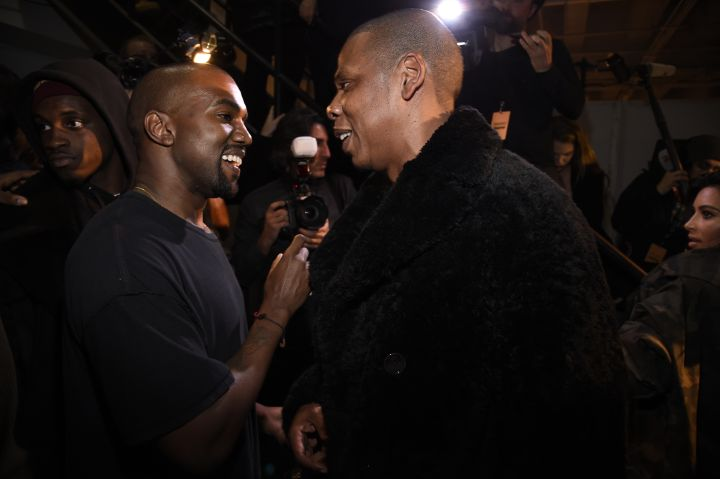 Jay Z supporting Ye at the adidas Originals x Kanye West YEEZY SEASON 1 show