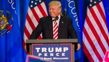 Donald Trump Holds Rally In West Bend, Wisconsin